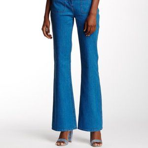 Vince Camuto flared jeans with front patch pockets